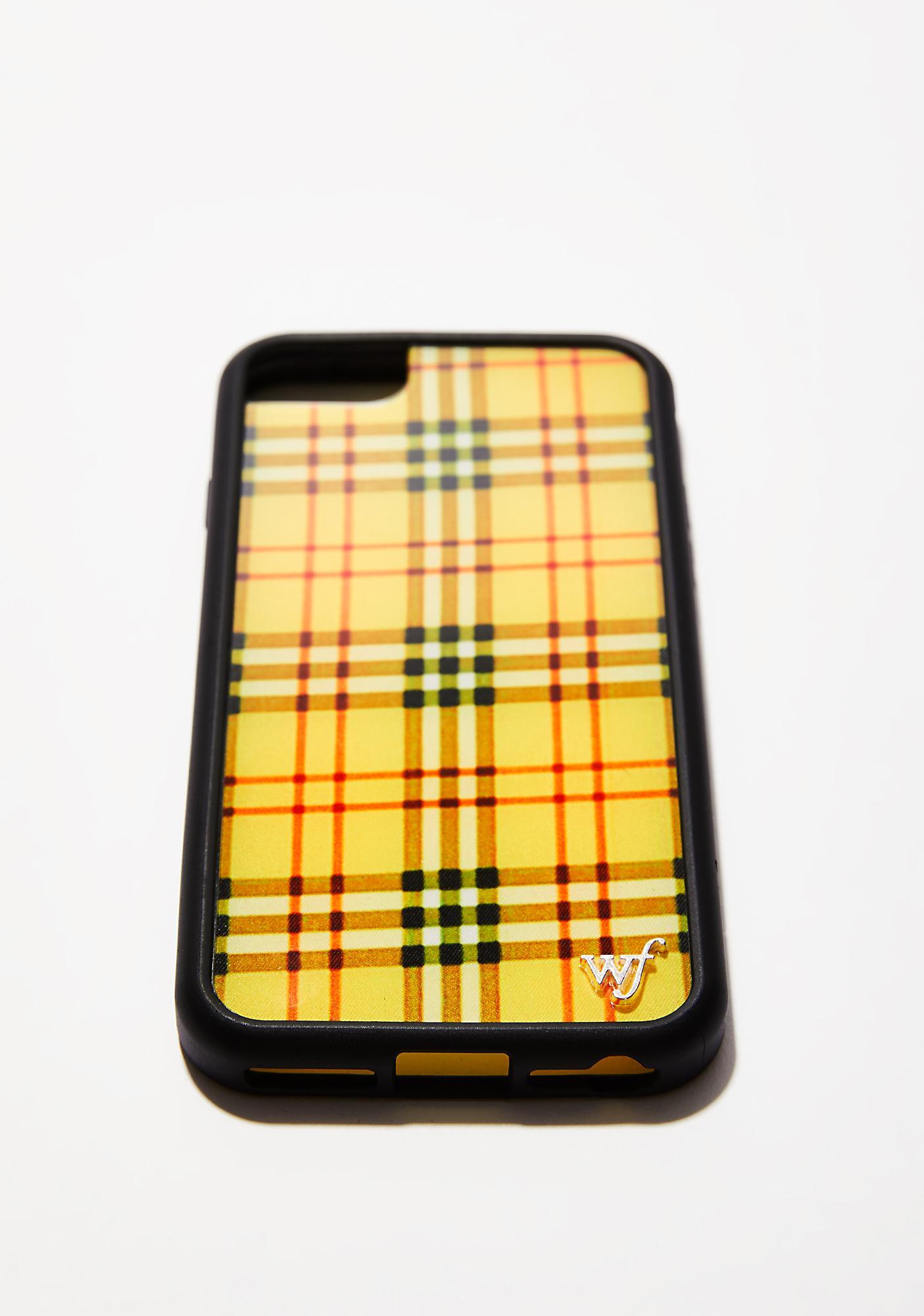 official photos 2e847 ec271 Yellow Tartan iPhone Case