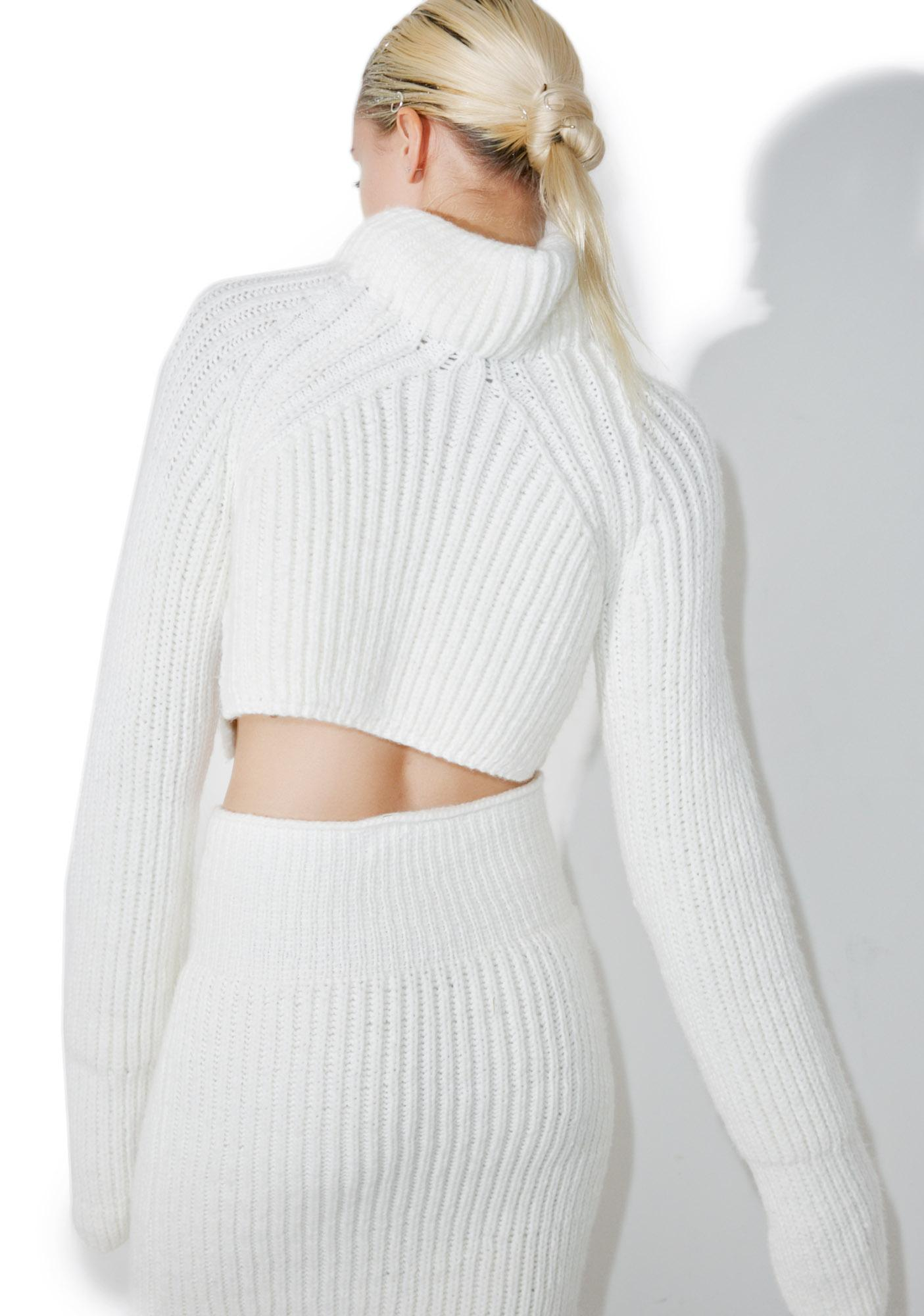 Maria ke Fisherman Creme Knit Top