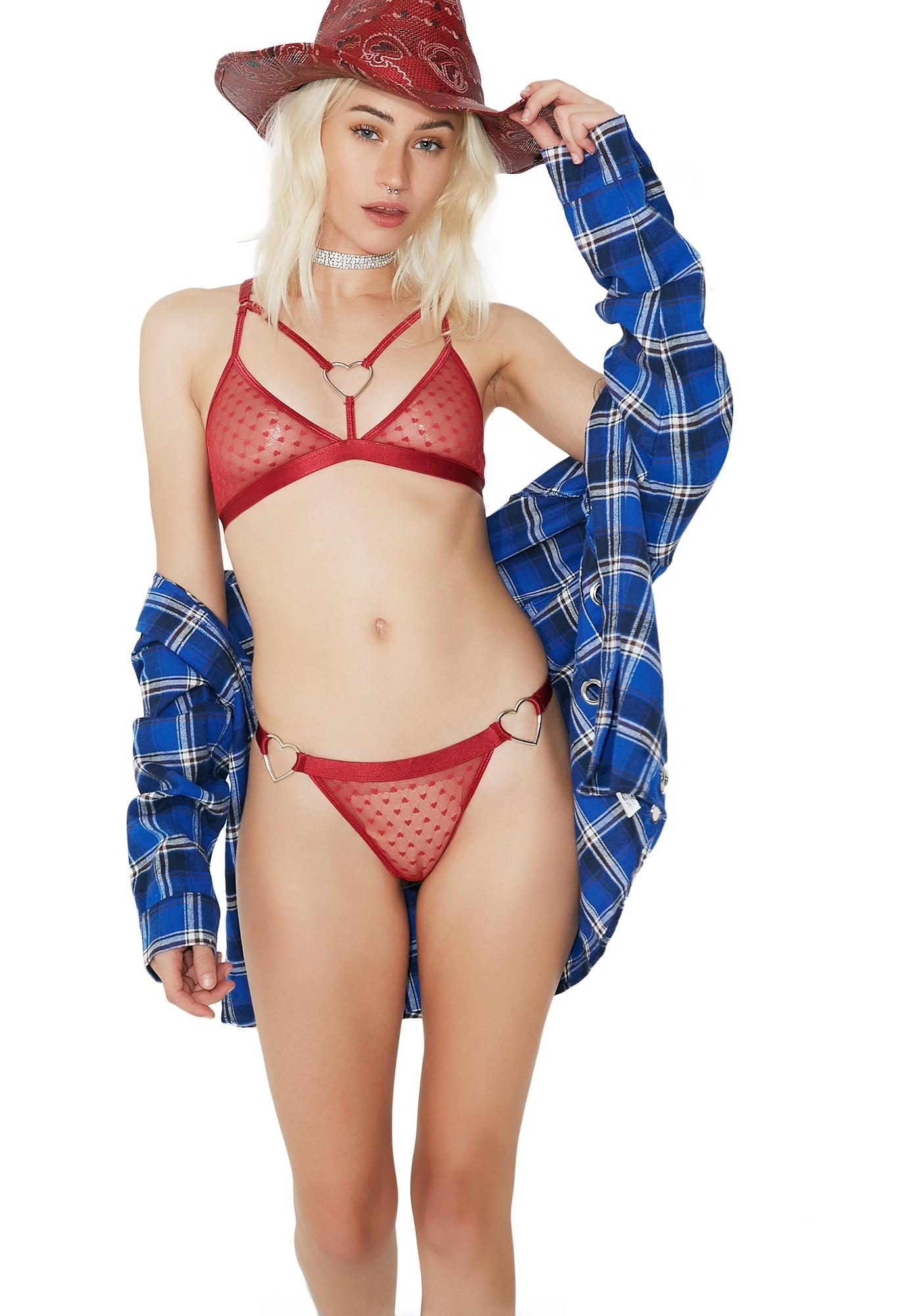 Sugar Thrillz Scarlet Bonbon Harness Bralette