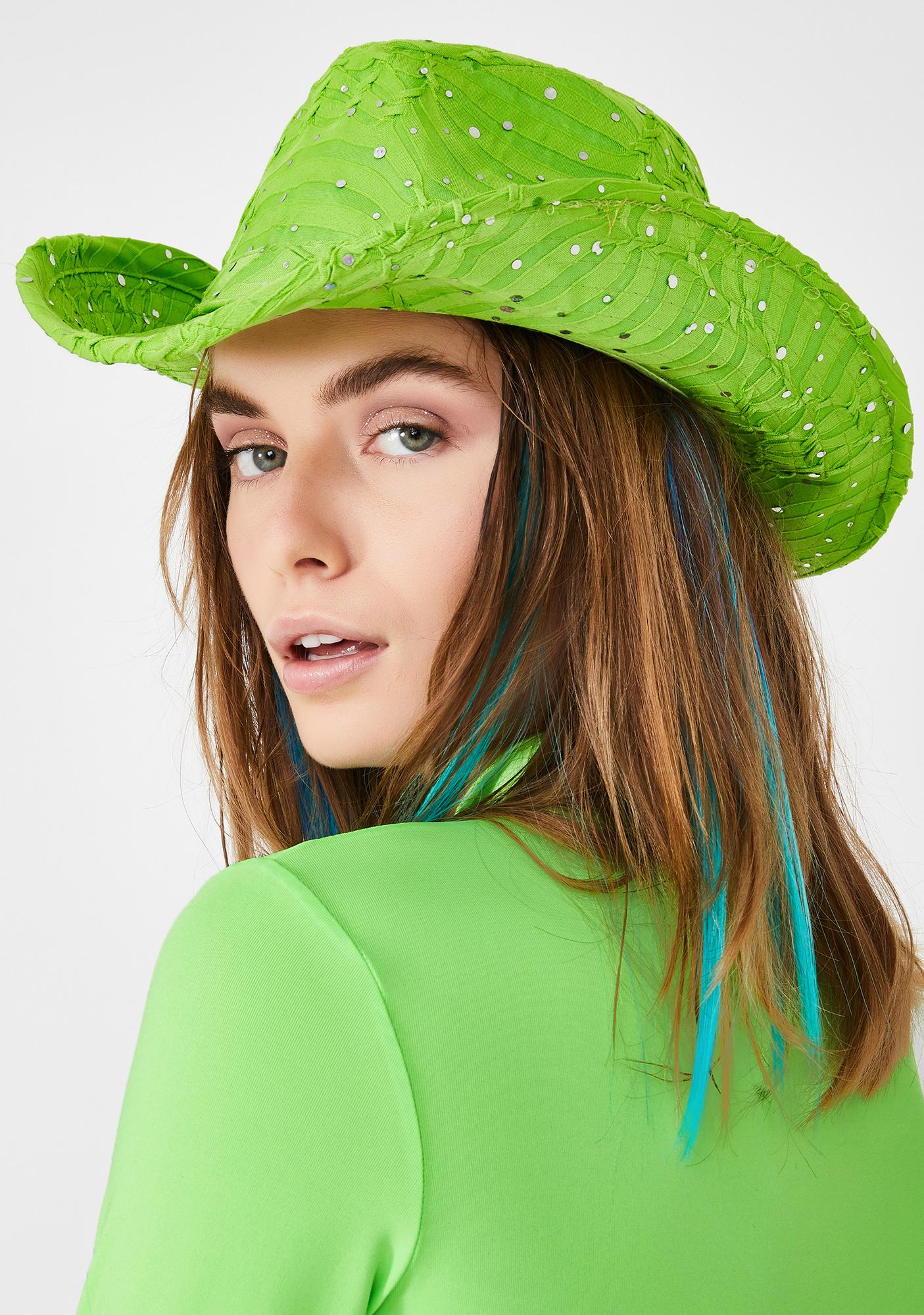 Lime Moonshine Magic Cowgirl Hat