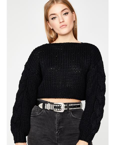 Dark Thicc N' Rich Crop Sweater