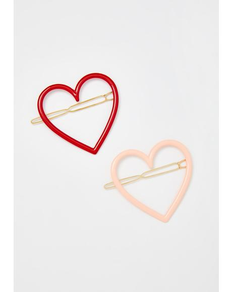 Love Finally Heart Clips