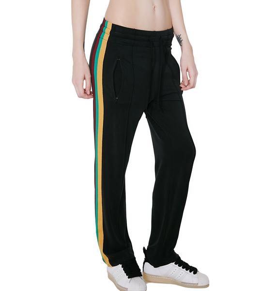Kickin' It Striped Drawstring Pants