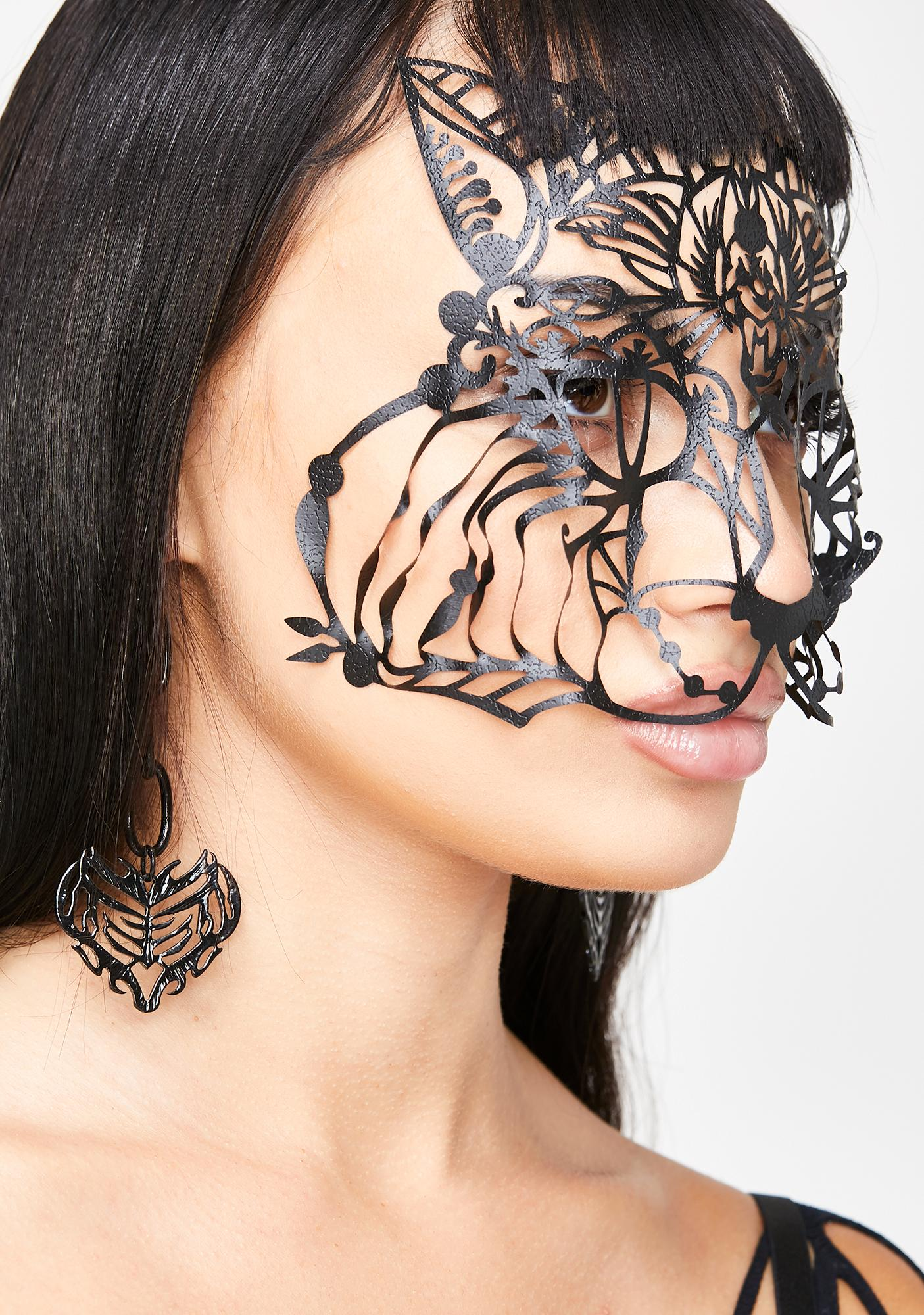 Face Lace Bastet Face Mask