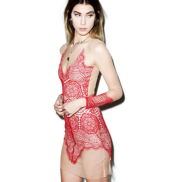 For Love & Lemons Antigua Mini Dress