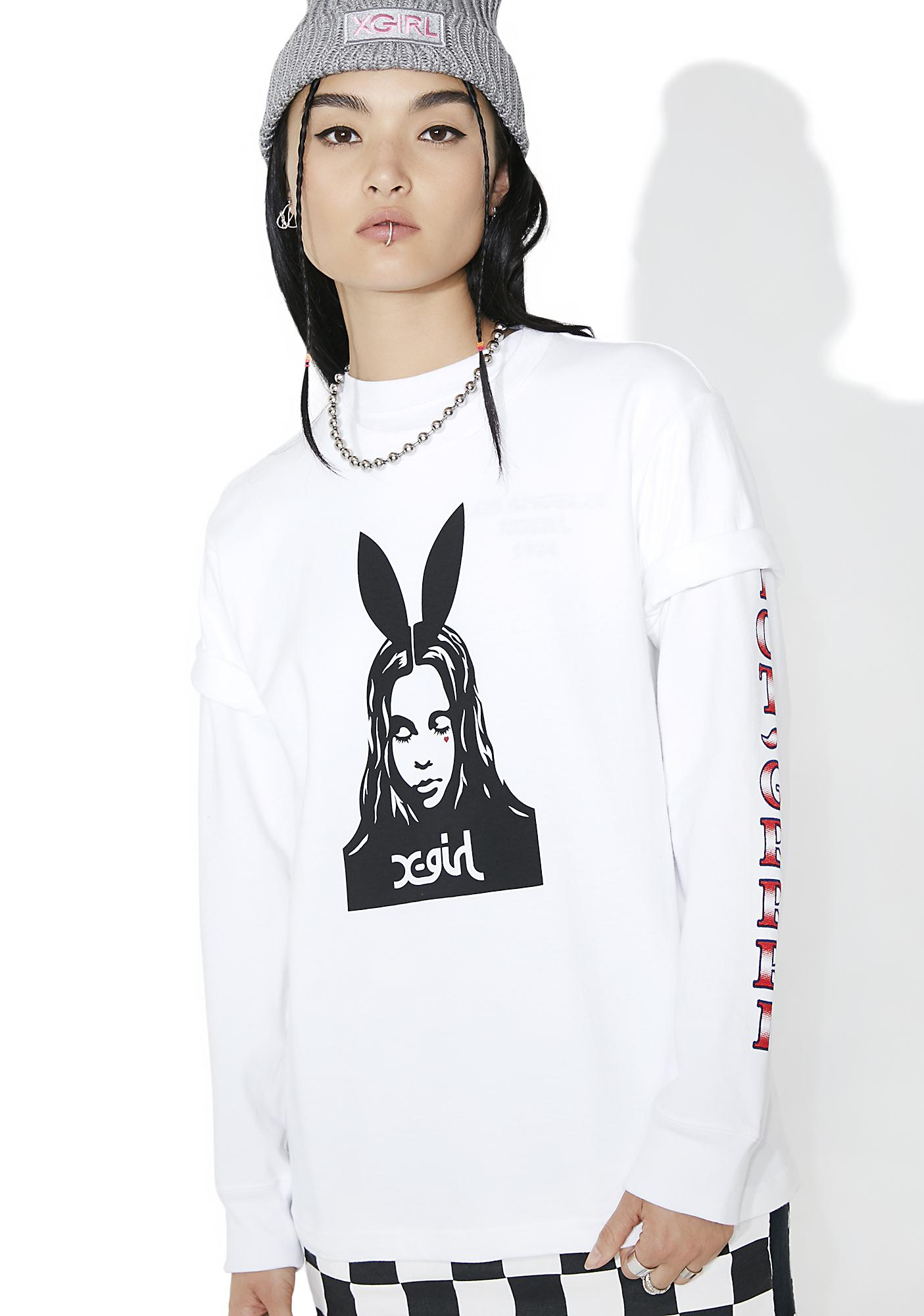 x-Girl Bunny Face Short Sleeve Tee  8be4c29ee