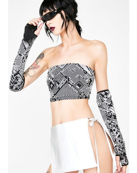 Technosexxual Reflective Tube Top