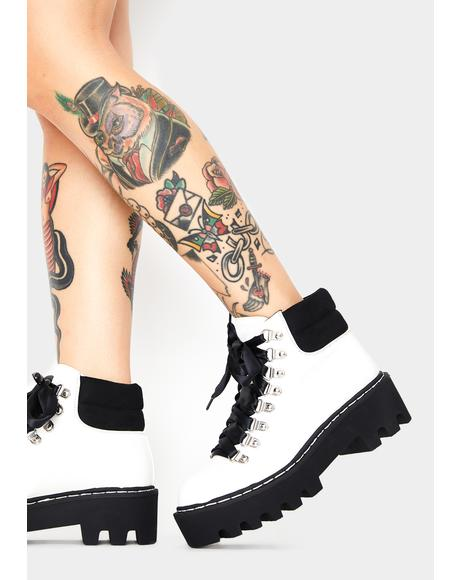 White Remedy Platform Boots