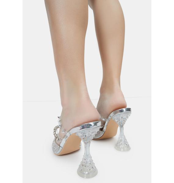 AZALEA WANG Hilary Rhinestone Mule Heels