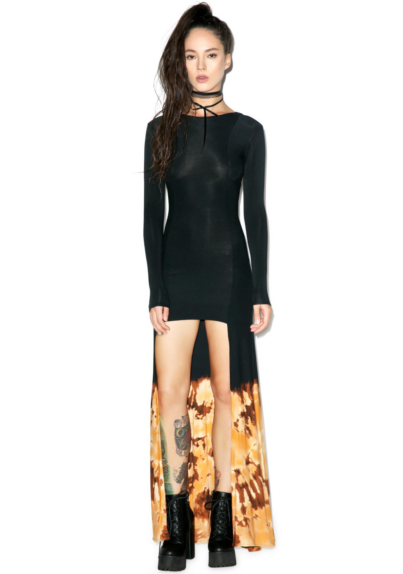 Castles Couture Fire Goddess Panel Dress