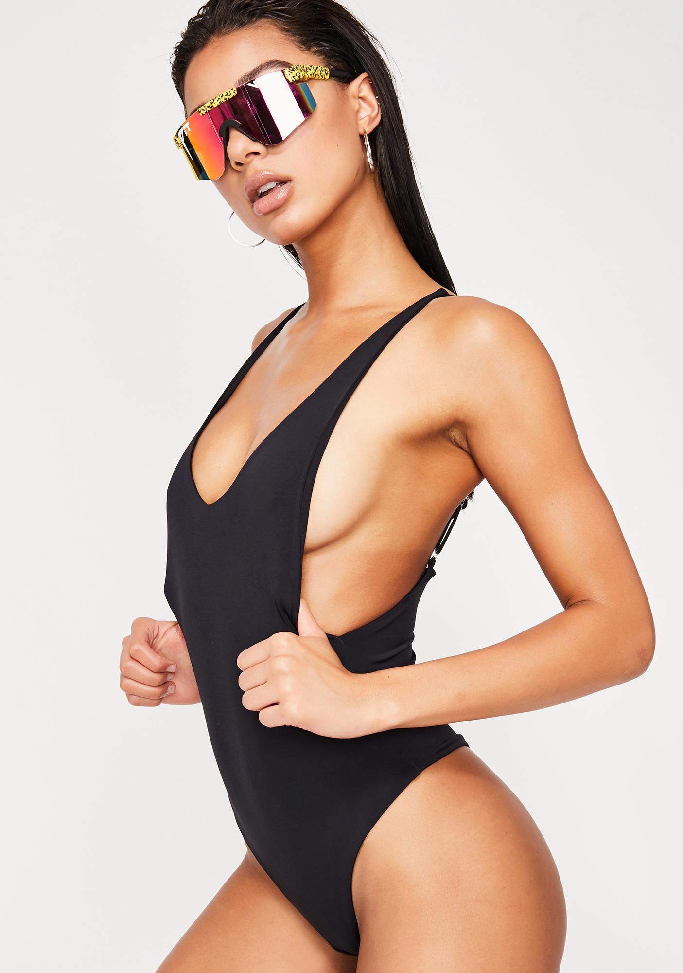 Dippin' Daisy's  Low Back Thong One Piece Bikini