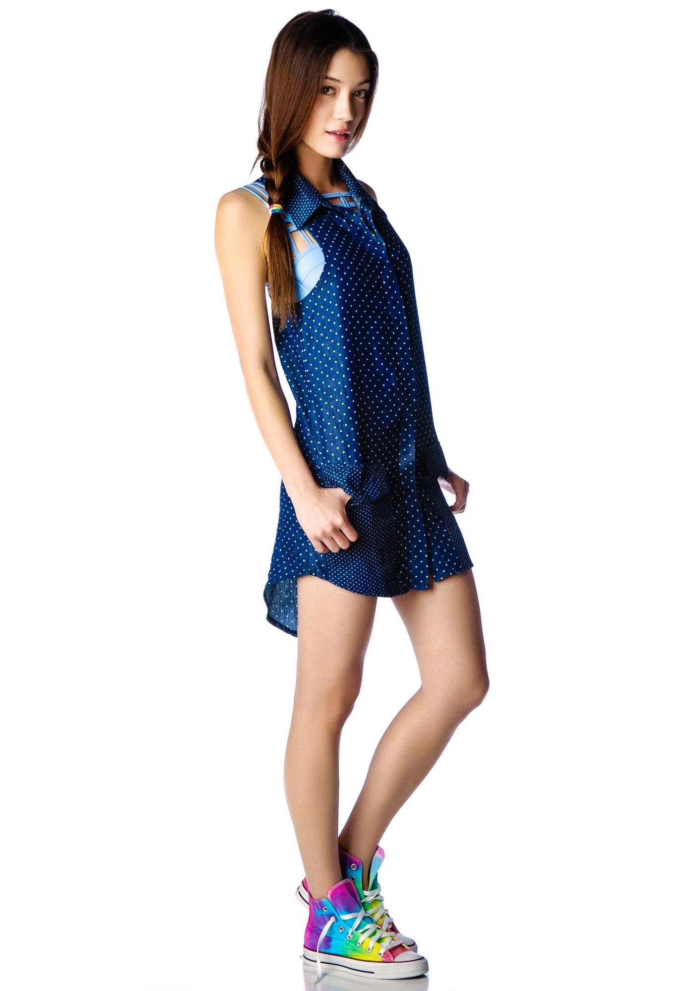 One Teaspoon Homesick Blues Shirt Dress