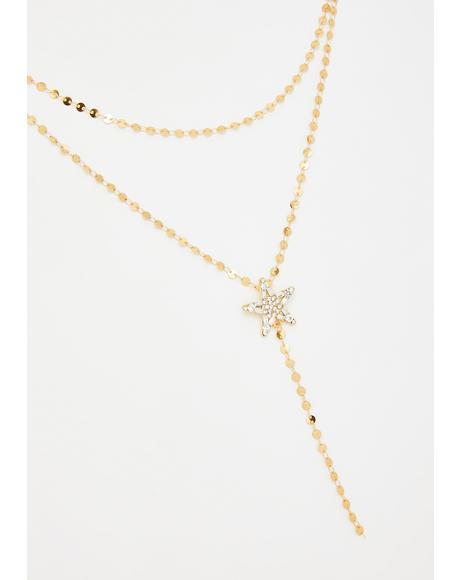 Starstruck Love Rhinestone Necklace