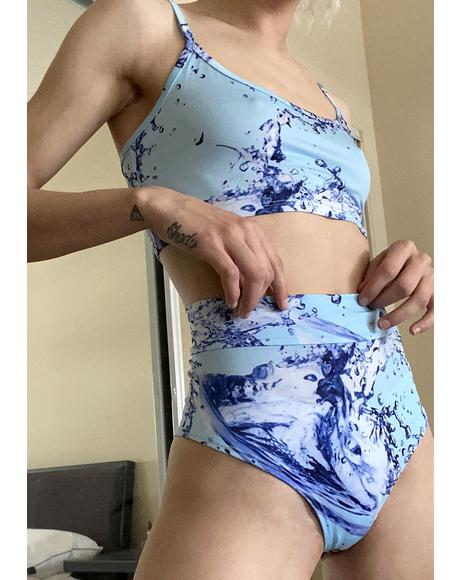 Troubled Waters Booty Shorts Set