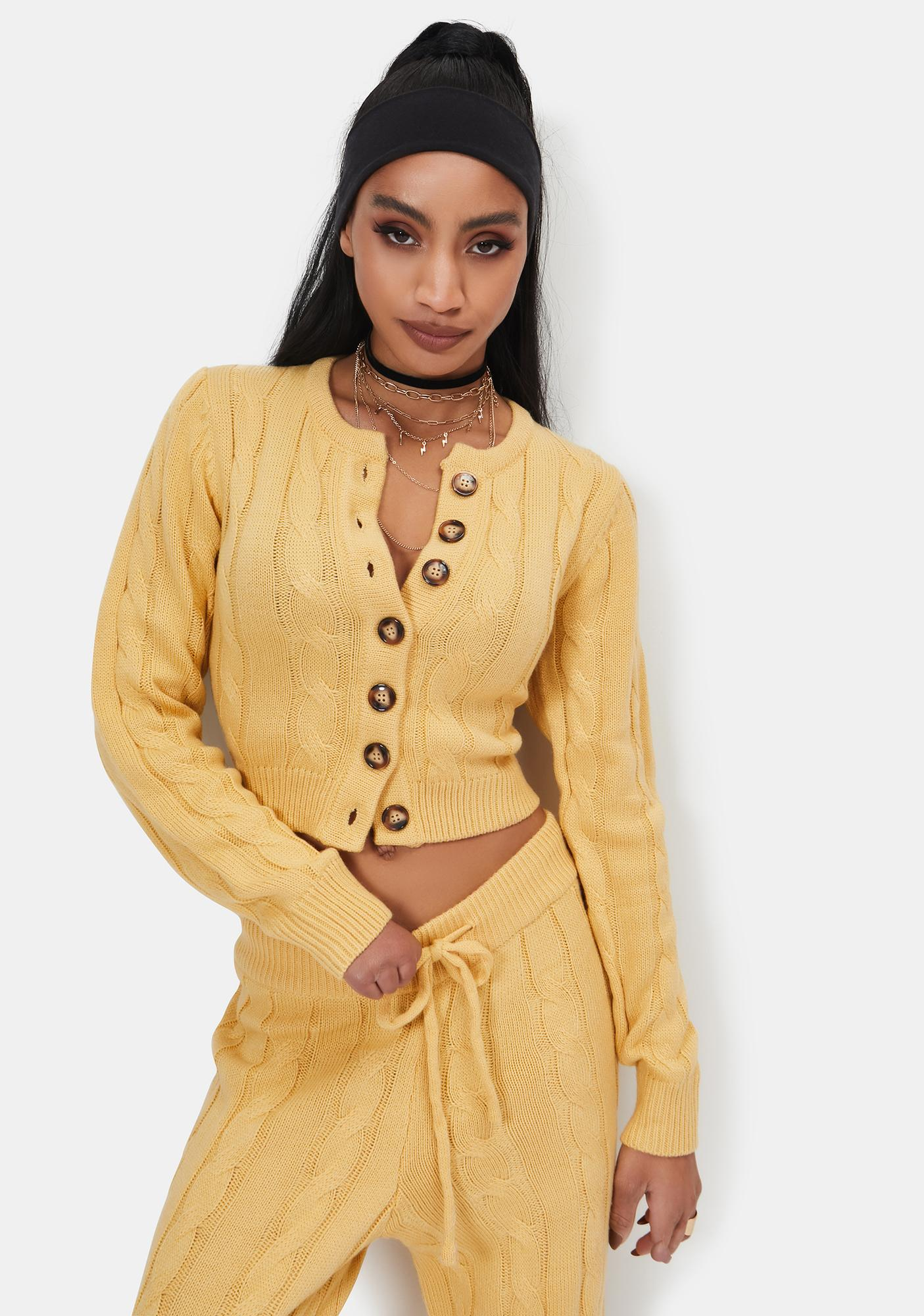 Bailey Rose Mellow Yellow Button Up Top