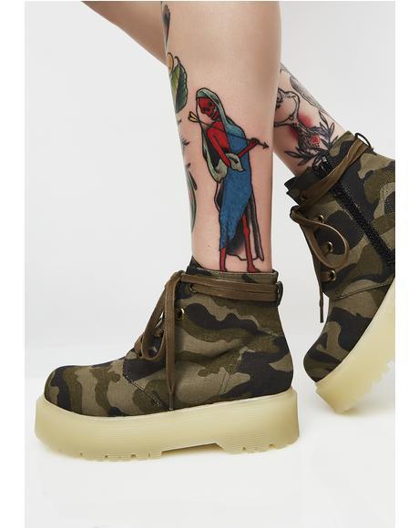 Slayr Camo Boots