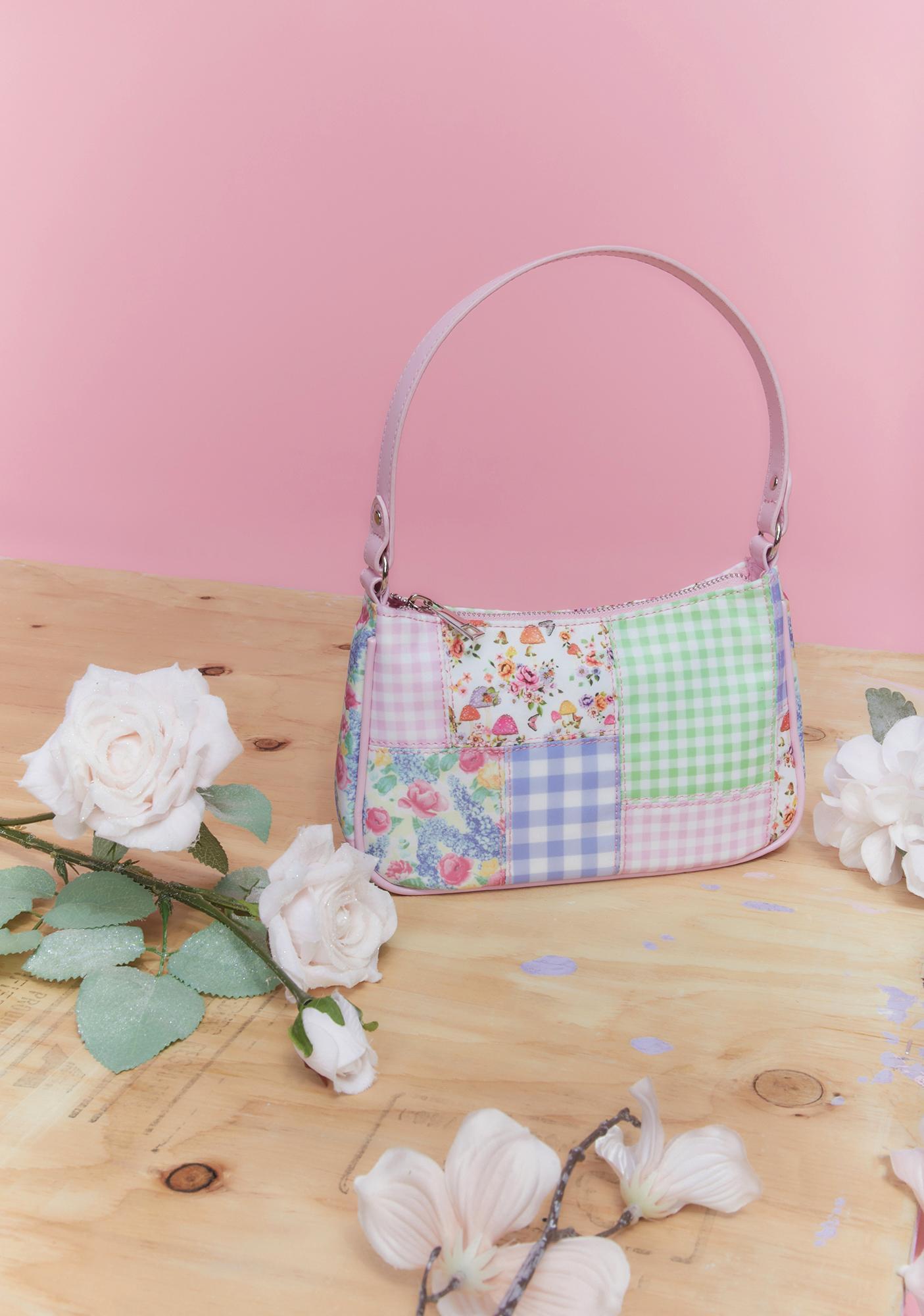 Sugar Thrillz Planting Dreams Patchwork Baguette Bag