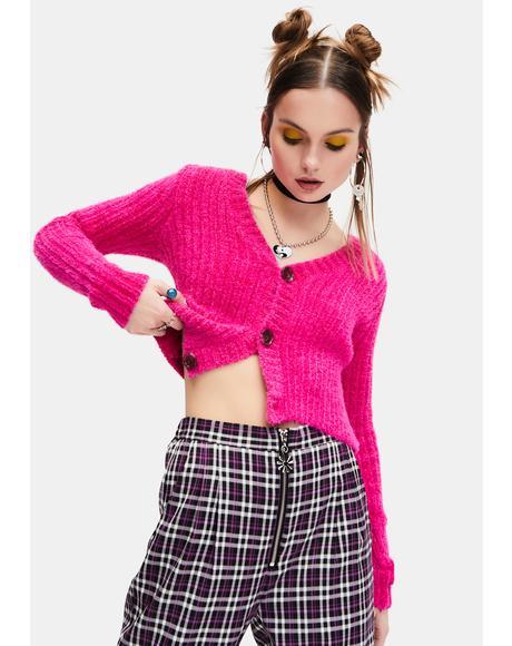 Flirtatious Fun Button Up Cropped Cardigan