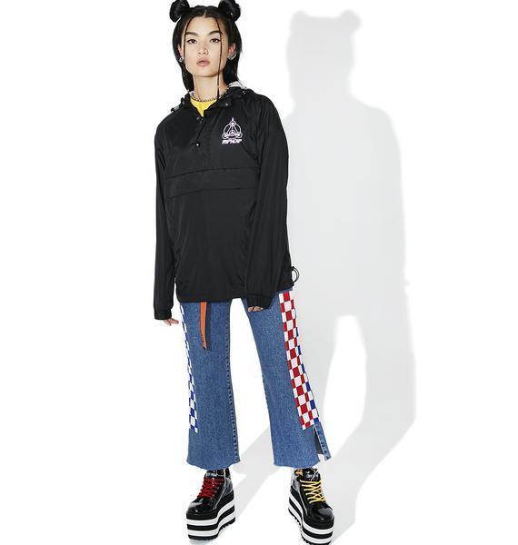 RIPNDIP Crop Circles Reflective Jacket
