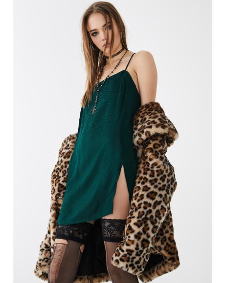 Cheetah Forest Green Datista Dress