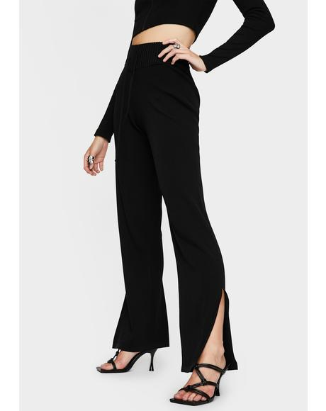 Black Coya Knit Pants