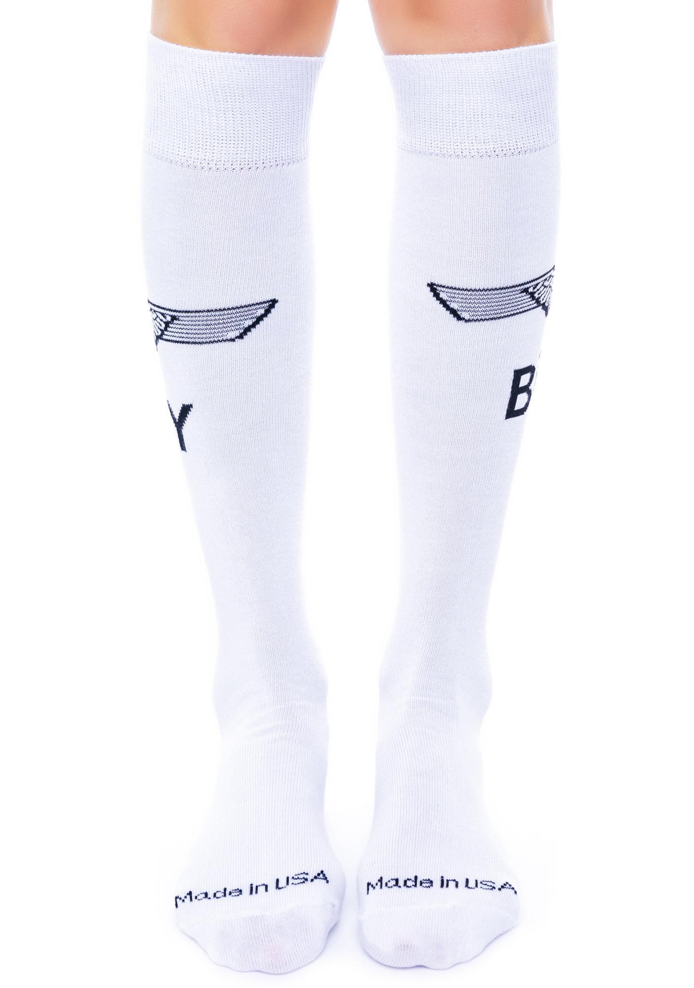 BOY London Eagle Boy Knee Socks