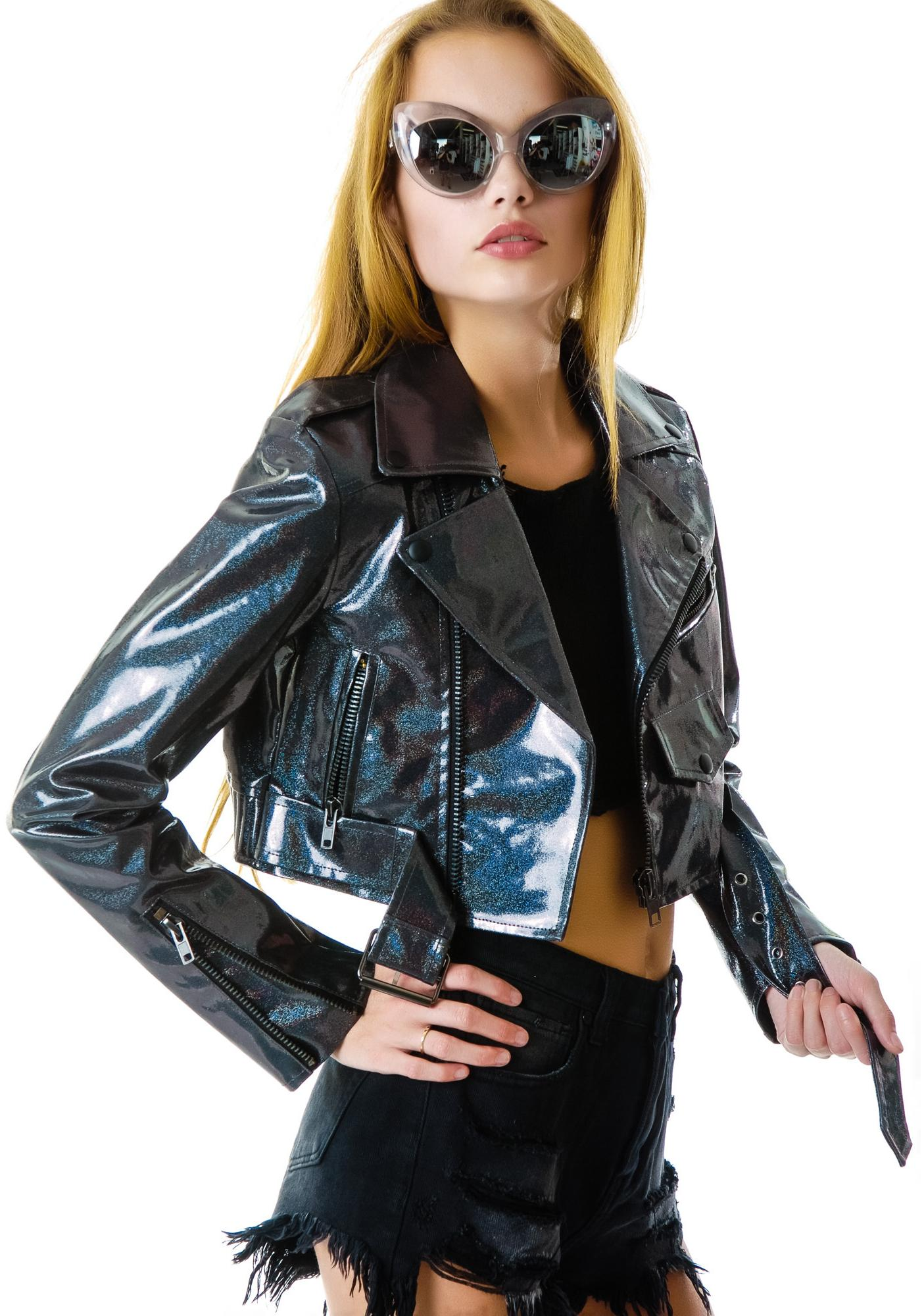 UNIF Glitter Crop Jacket