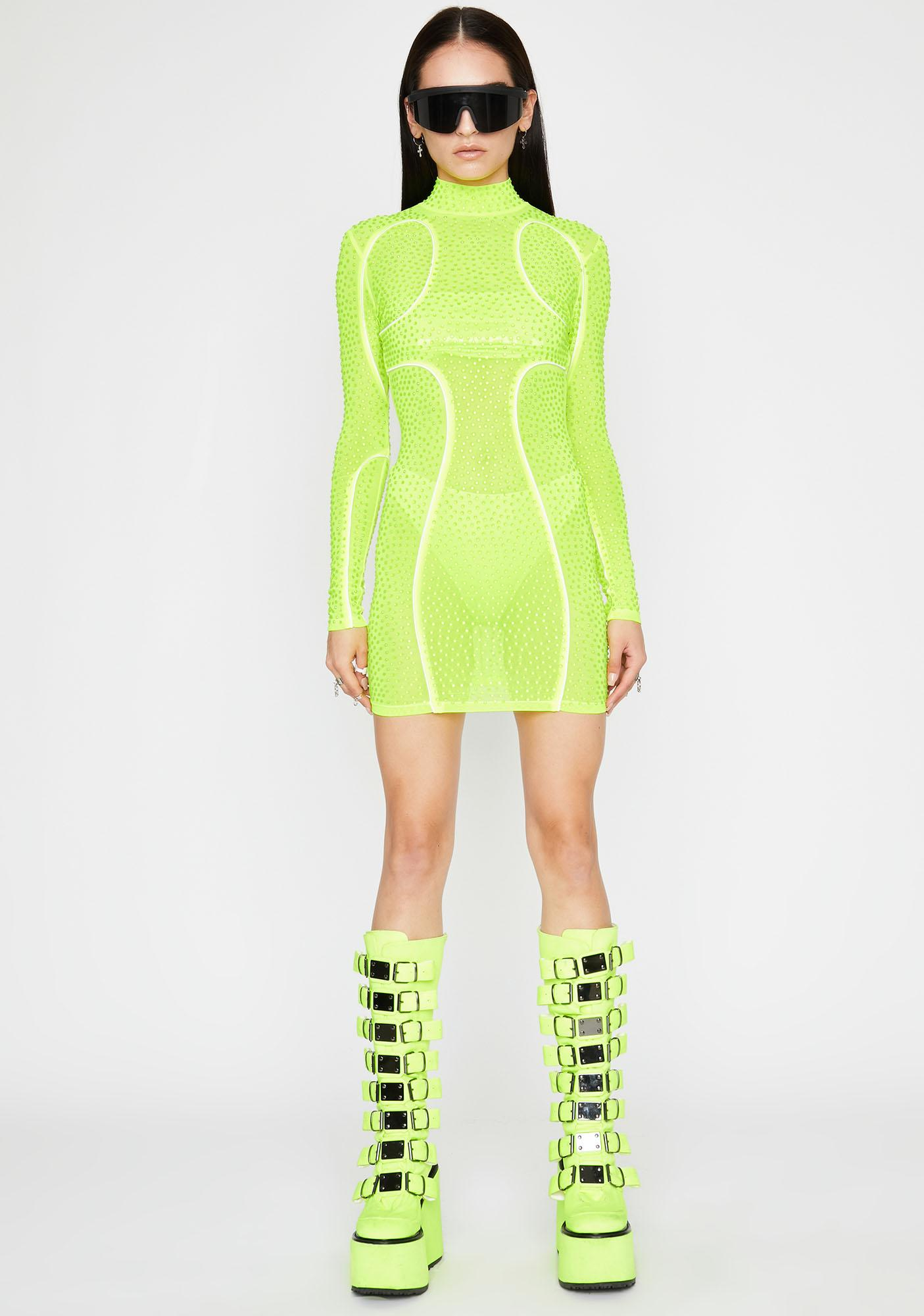Neon In My Element Bodycon Dress