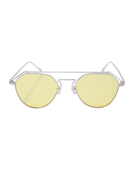 Stephanie Transparent Aviators