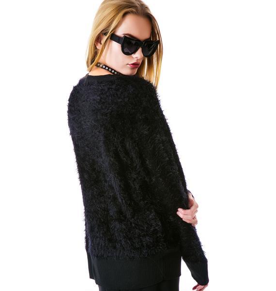 Halfman Romantics New York Cats Knit Sweater