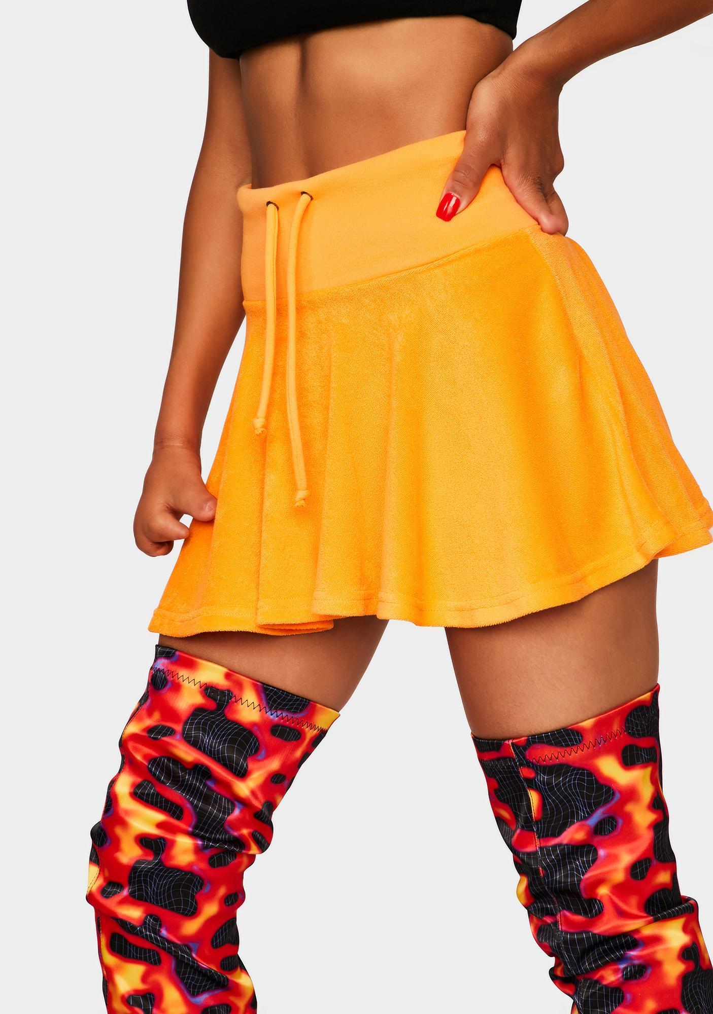 Orange Not Ur School Grl Mini Skirt
