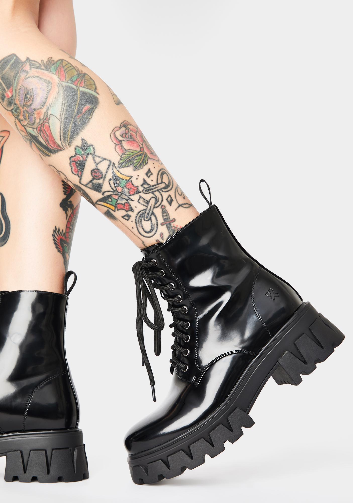 Koi Footwear Bright Shadow Patent Boots