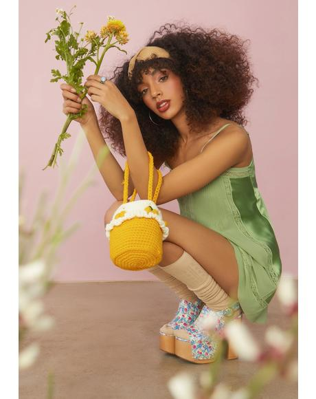Juicy In Tartness Crochet Bucket Bag