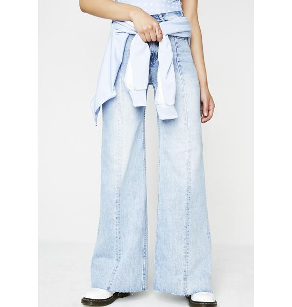 Neon Blonde Siren Sweep Jeans