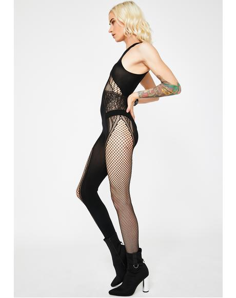 Radiant Rampage Sheer Bodystocking