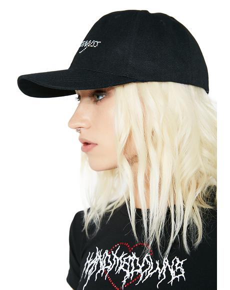 Black Baby Crystal Logo Hat