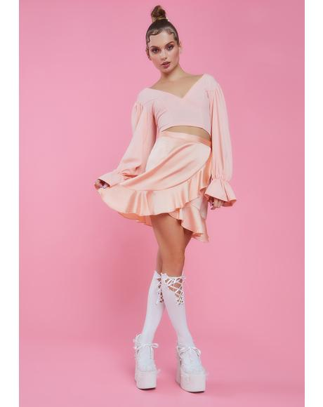 Angel Lace Me Up Knee High Socks
