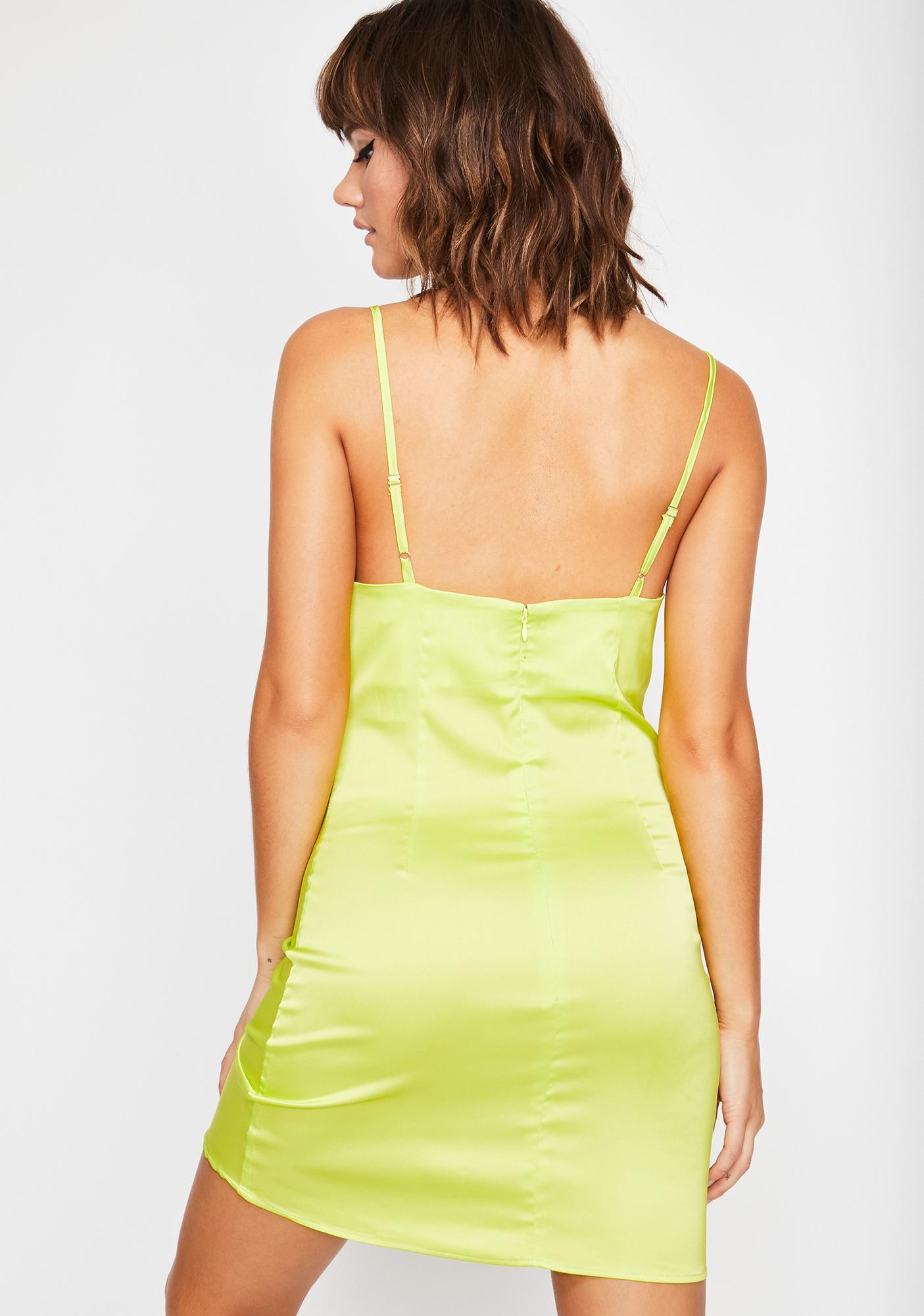 Lime Xoxo Gossip Grl Mini Dress