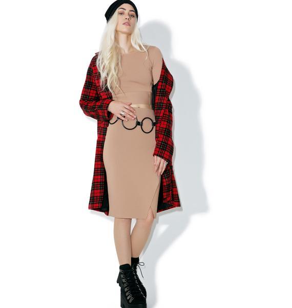 Kendall + Kylie Compact Pencil Skirt