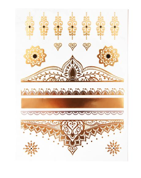 Regal Reign Metallic Tattoo Set