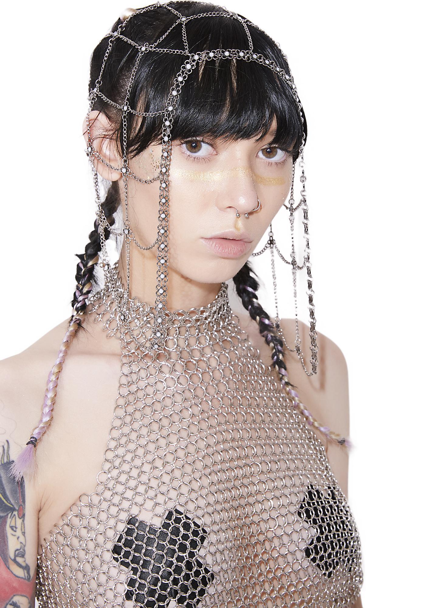 Miss Majesty Chain Headpiece