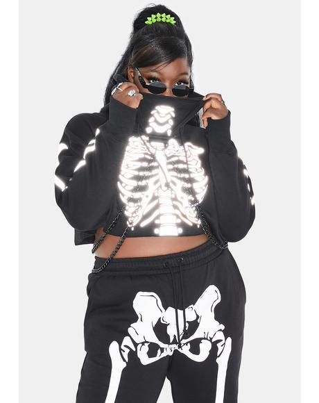 Real Flesh N' Bones Reflective Hoodie