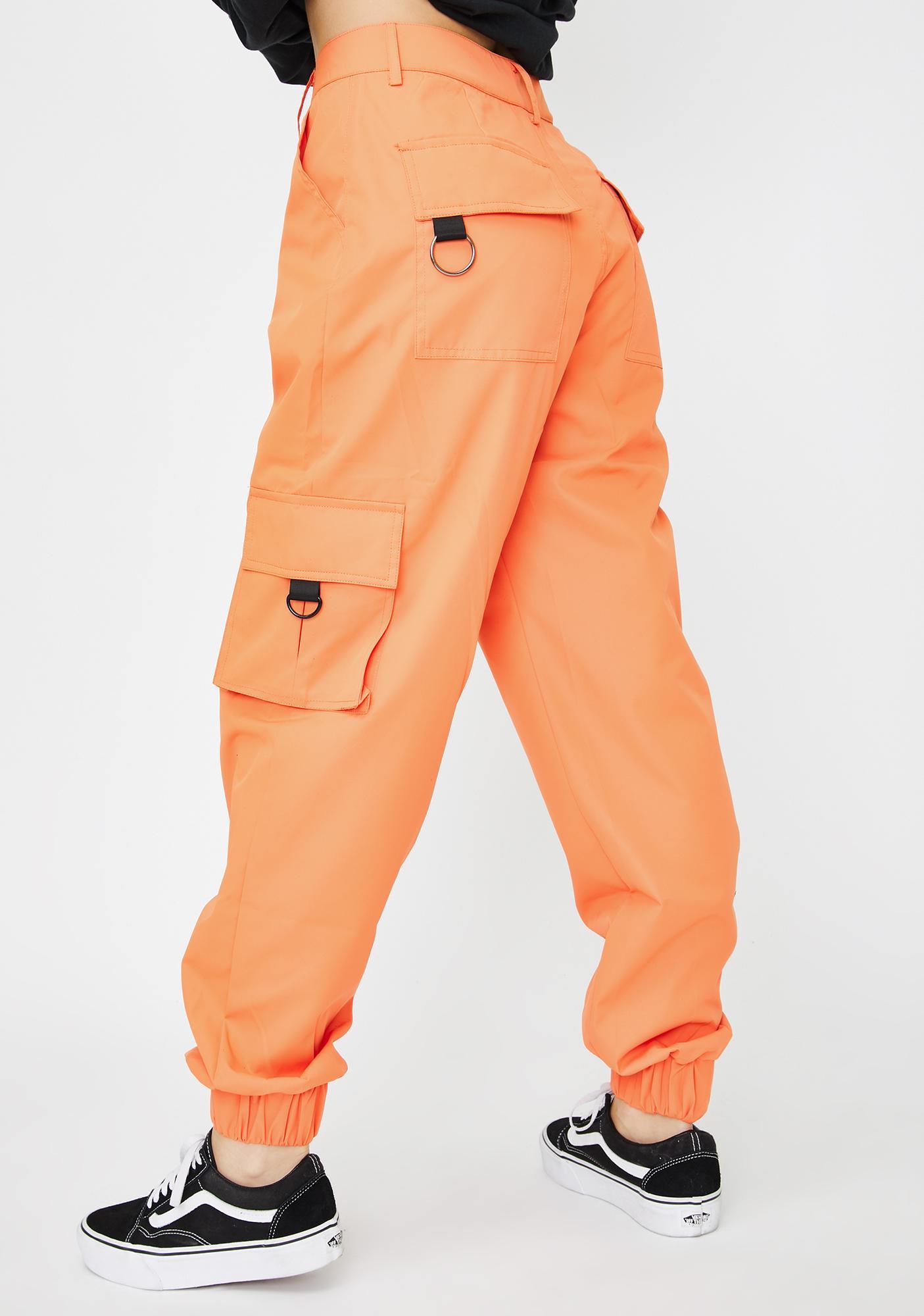 Nana Judy Orange Matira Cargo Pants