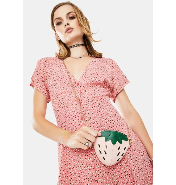Strawberry Feels Forever Crossbody Bag