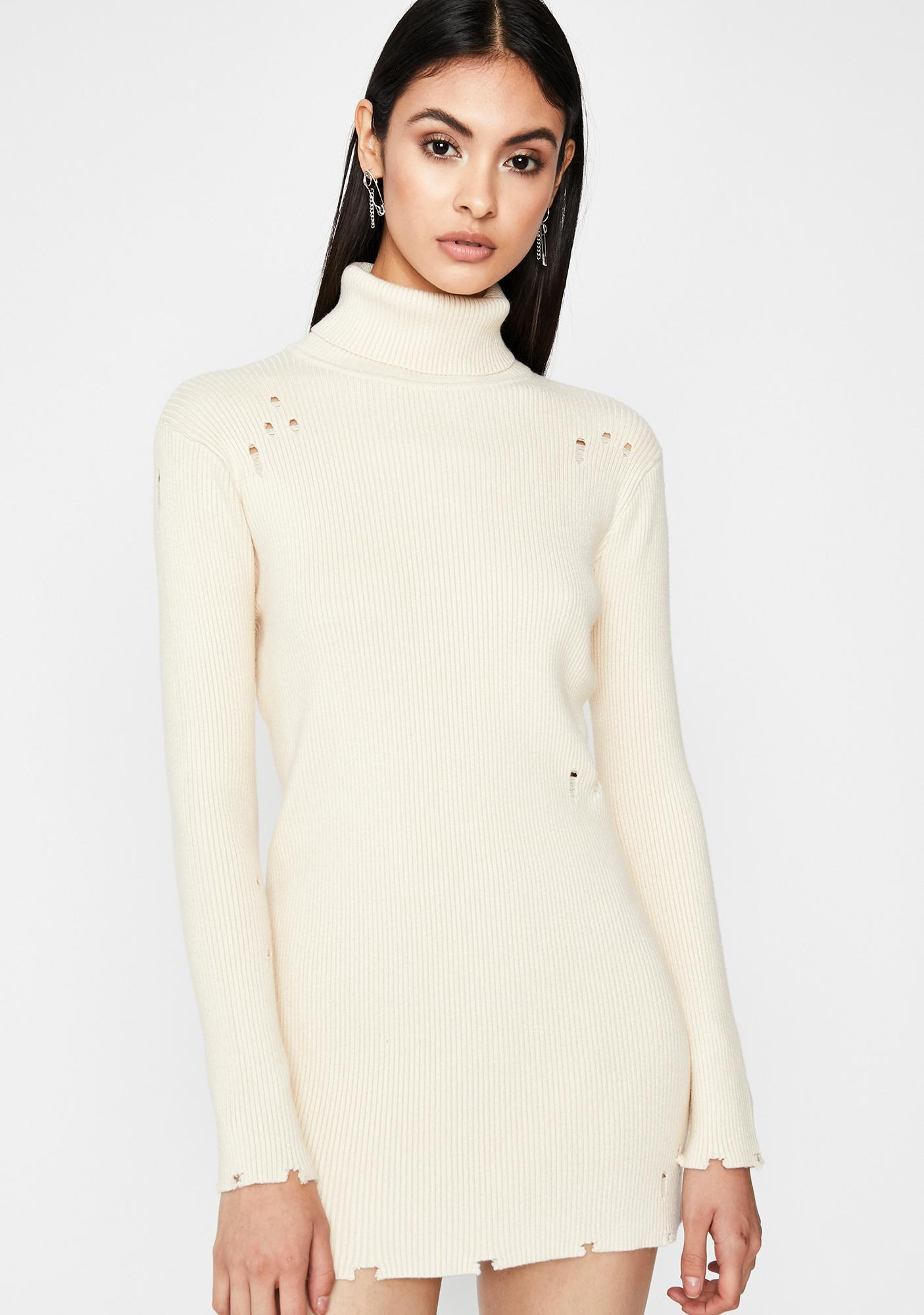Blanc Boulevard Babe Long Sleeve Dress