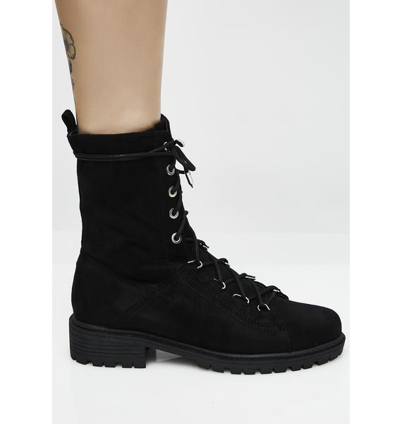 Onyx You're In Charge Combat Boots