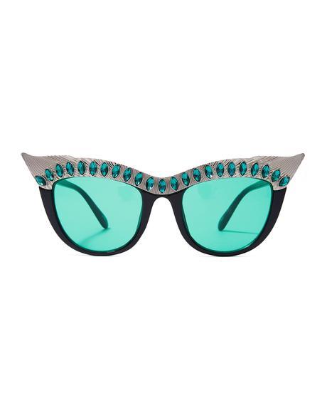 Emerald Nefertiti Sunglasses