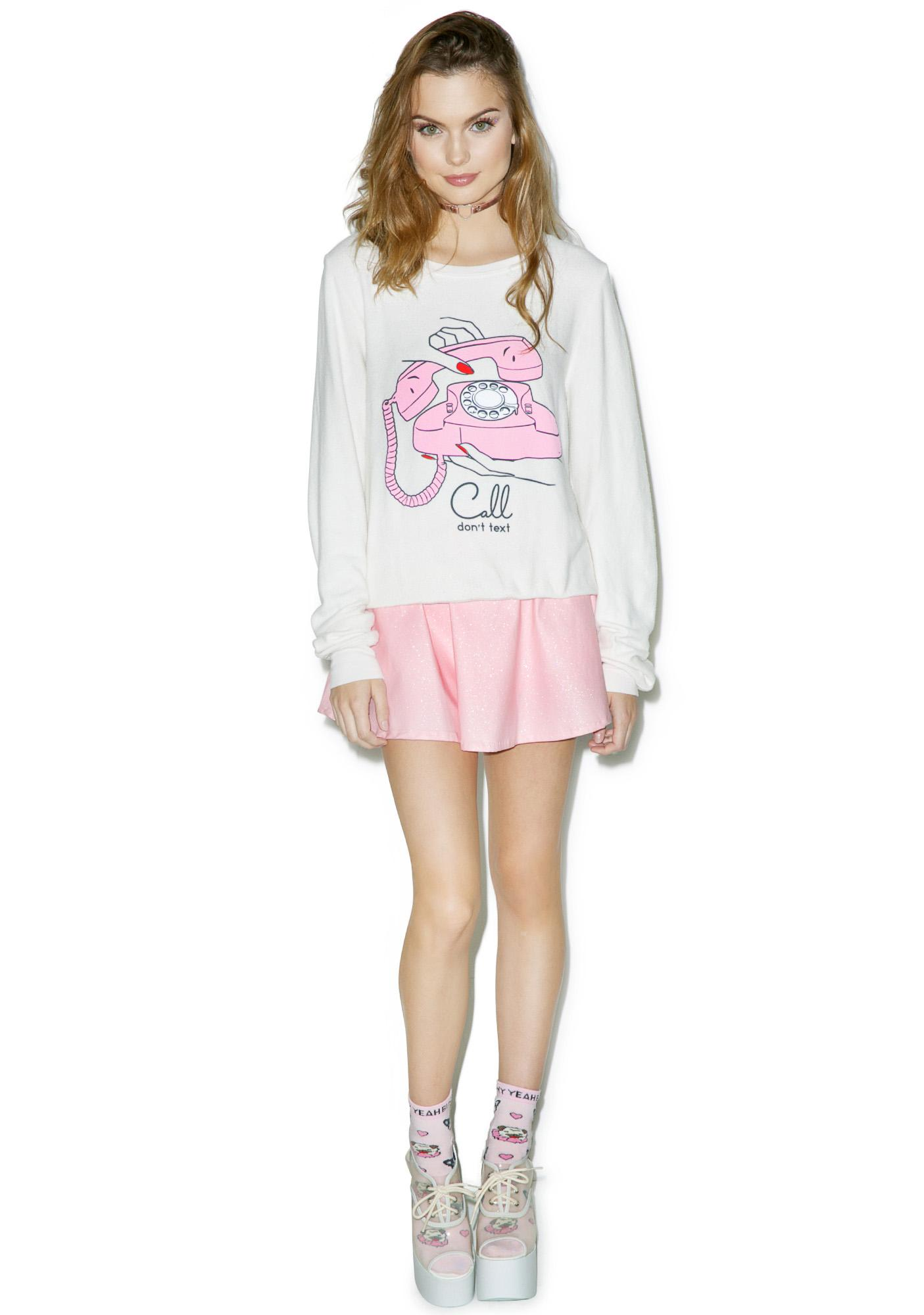 Wildfox Couture Call Don't Text Baggy Beach Jumper