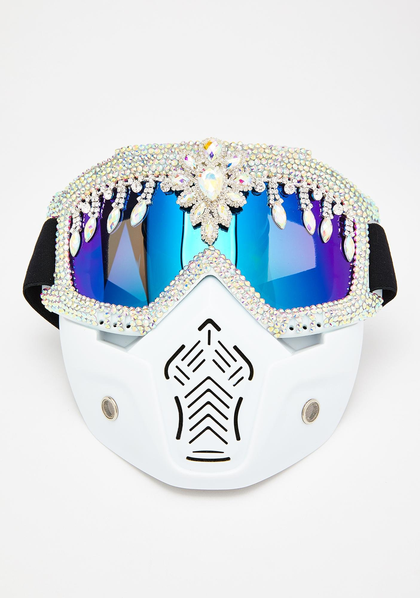The Lyte Couture Rhinestone Mask Goggles