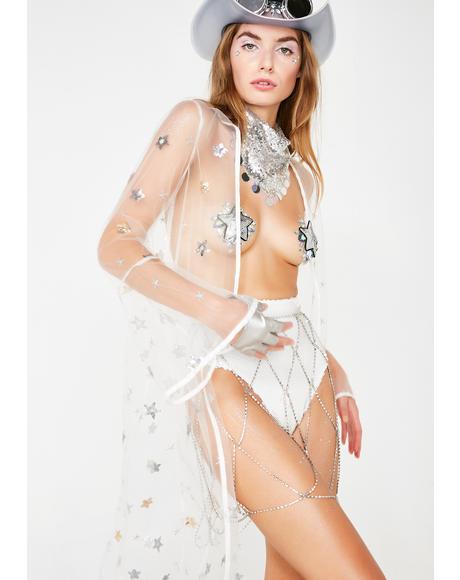 Pearl Starlight Bright Sheer Kimono